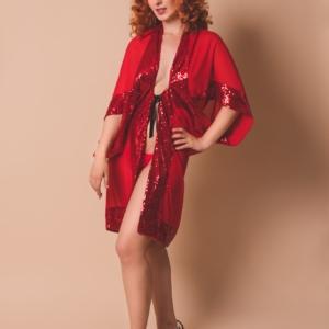 kimono czerwone