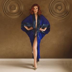 kimono niebieske