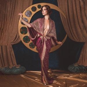 kimono z kryształkami