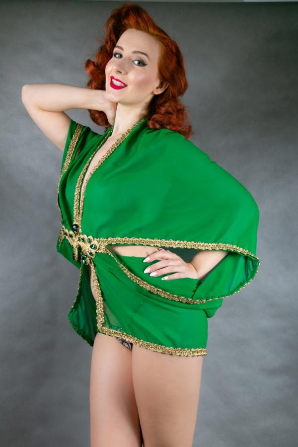 zielone kimono
